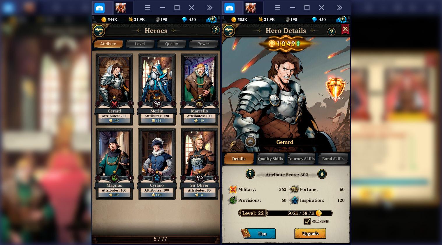King's Throne: Game of Lust – Hướng dẫn nâng cấp, tiến hóa tướng và chiêu mộ quân