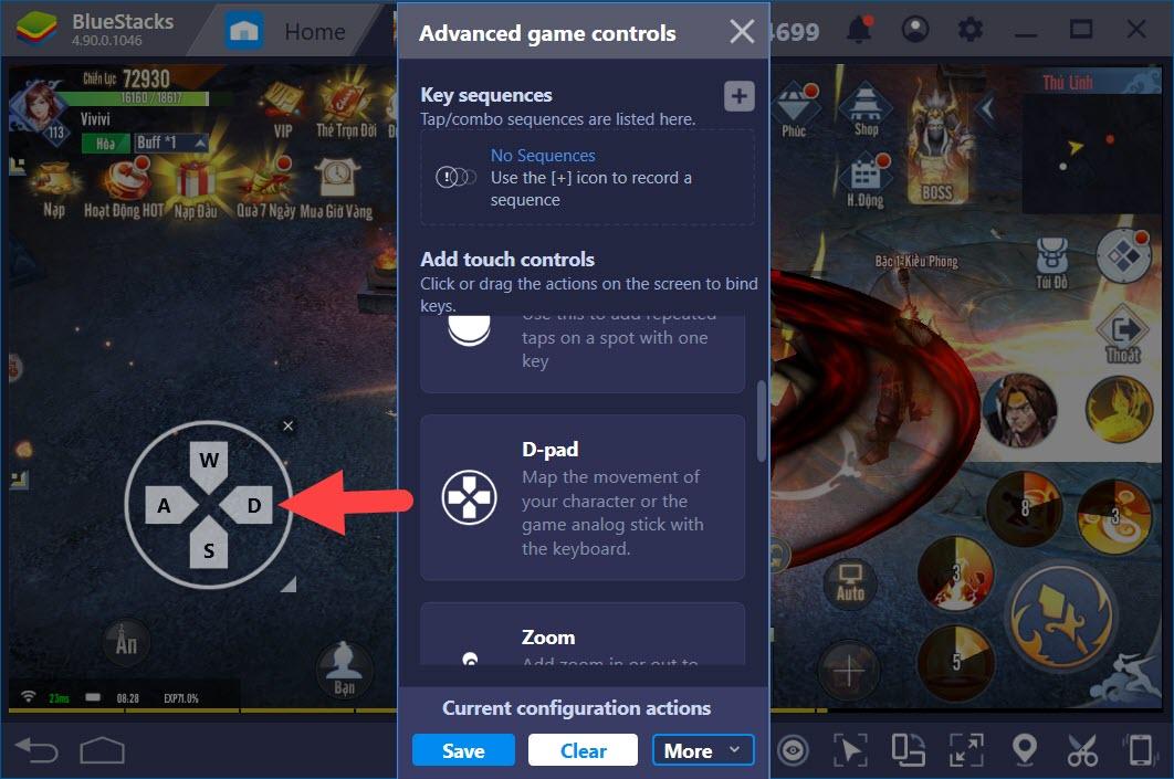 Thiết lập Game Controls chơi Kiếm Vương Truyền Kỳ với BlueStacks