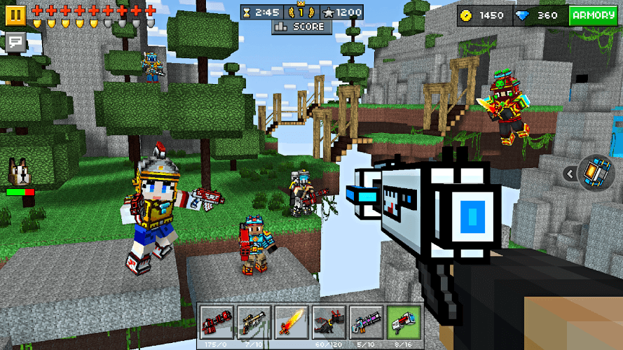 Play Pixel Gun D On PC With BlueStacks Android Emulator - Minecraft gun spiele