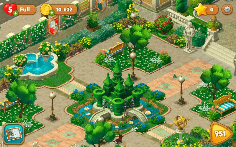 Spiele Gardenscapes auf PC 22