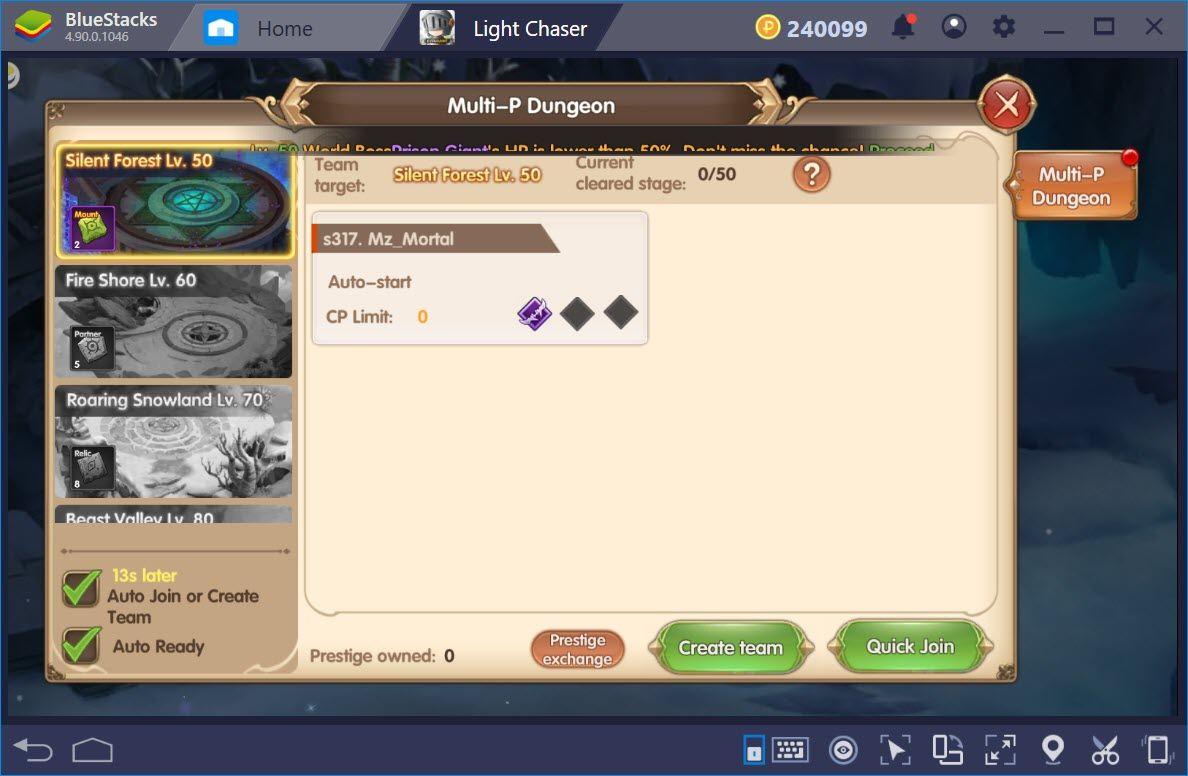 Những thứ không nên bỏ qua trong Light Chaser