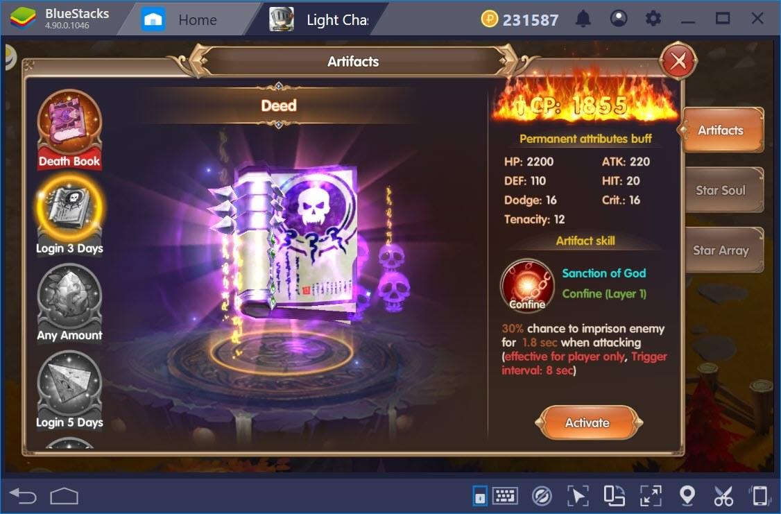 Tìm hiểu hệ thống nâng cấp trong Light Chaser