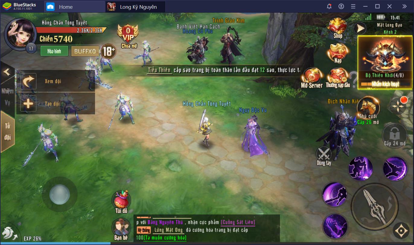 Khám phá game nhập vai hấp dẫn Long Kỷ Nguyên với BlueStacks