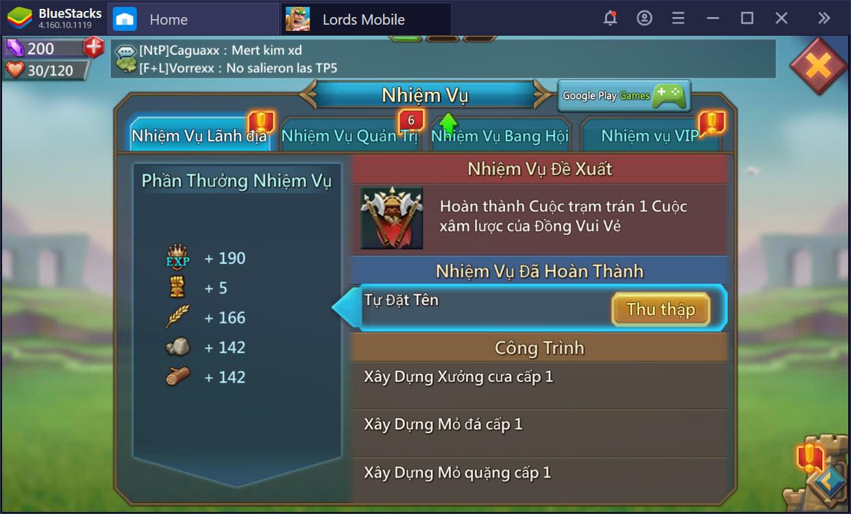 Tìm hiểu hệ thống nhiệm vụ, cách chơi cơ bản của Lords Mobile