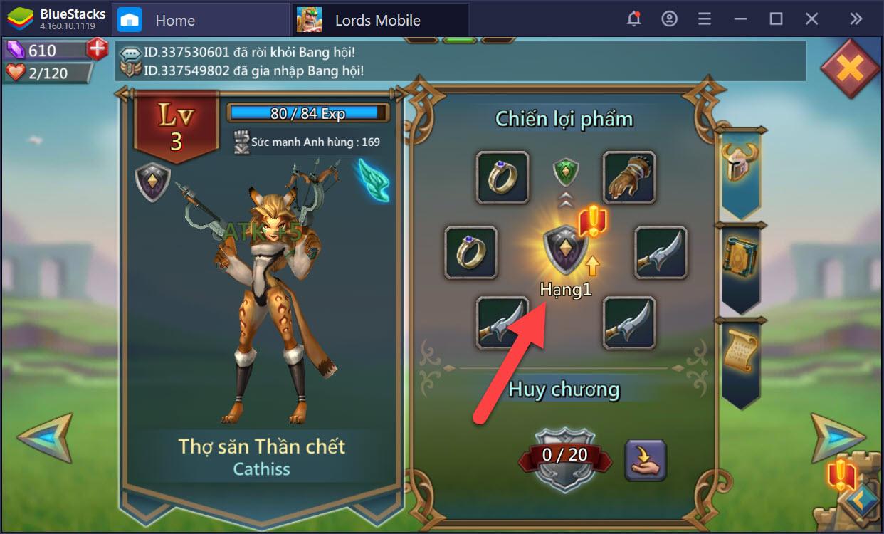 Cách chơi chế độ Anh Hùng trong Lords Mobile