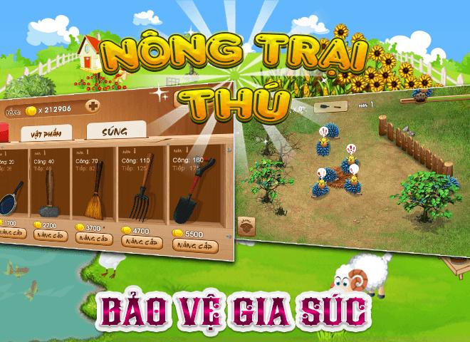 Chơi Nong Trai Thu – Dau Truong Thu on PC 9