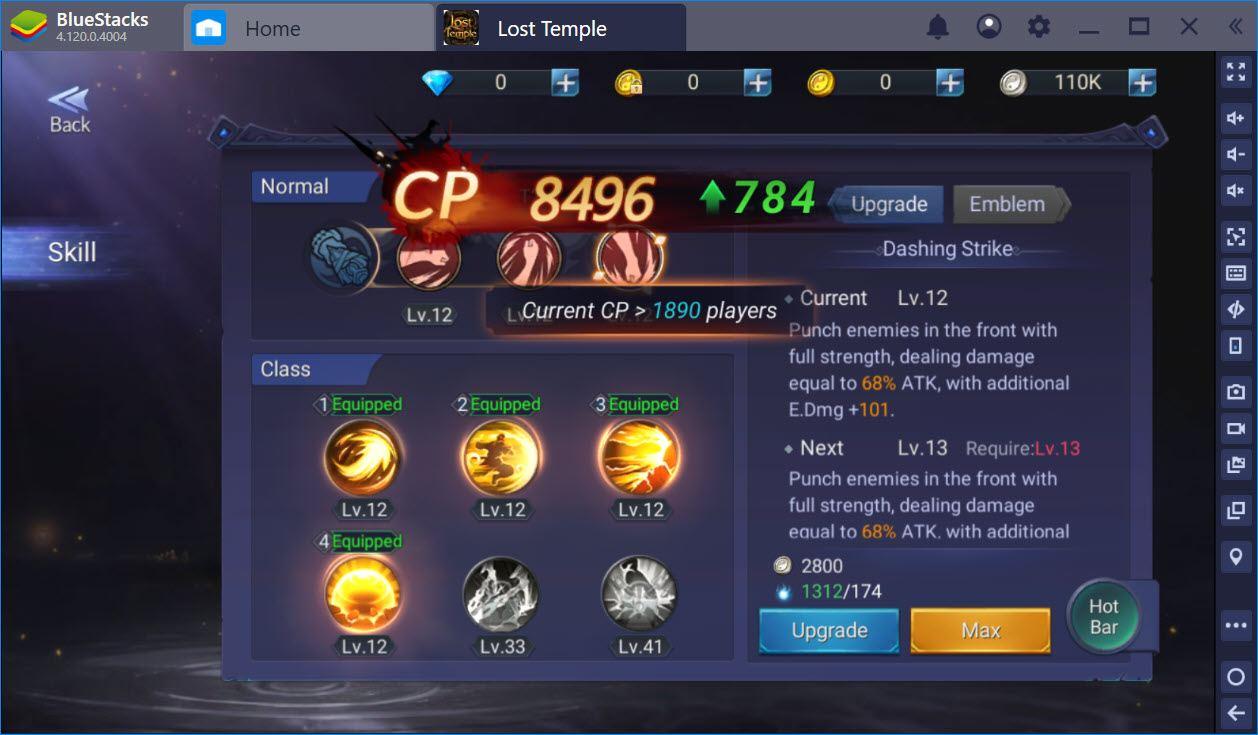 Hướng dẫn cường hóa vật phẩm, nâng cấp kỹ năng trong Lost Temple