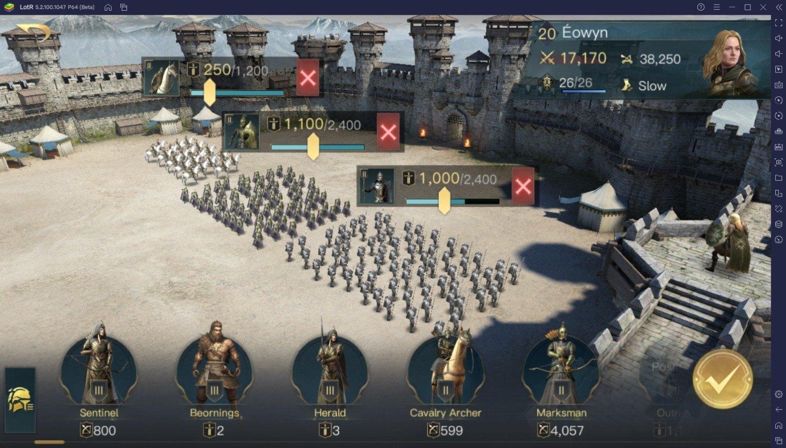 كيفية زيادة القوة العسكرية في لعبة The Lord of the Rings: War