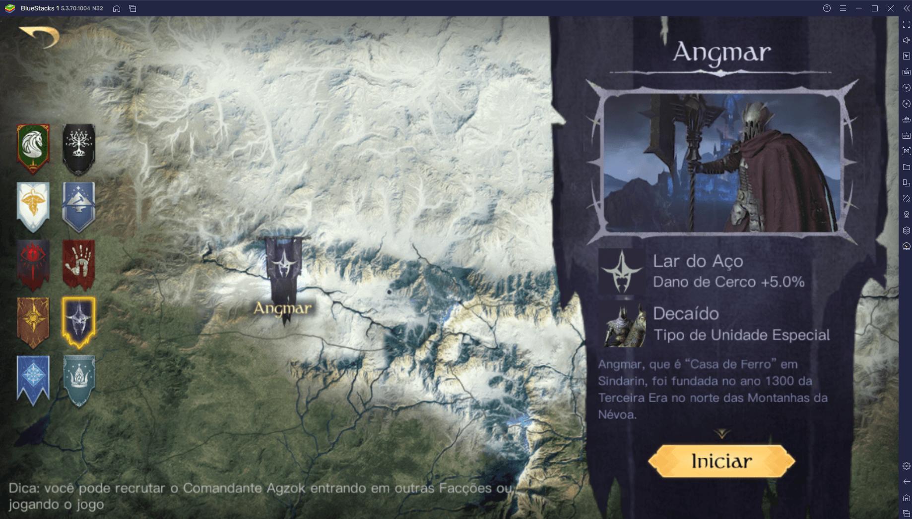 Qual a melhor facção de O Senhor dos Anéis: Guerra para começar o jogo?