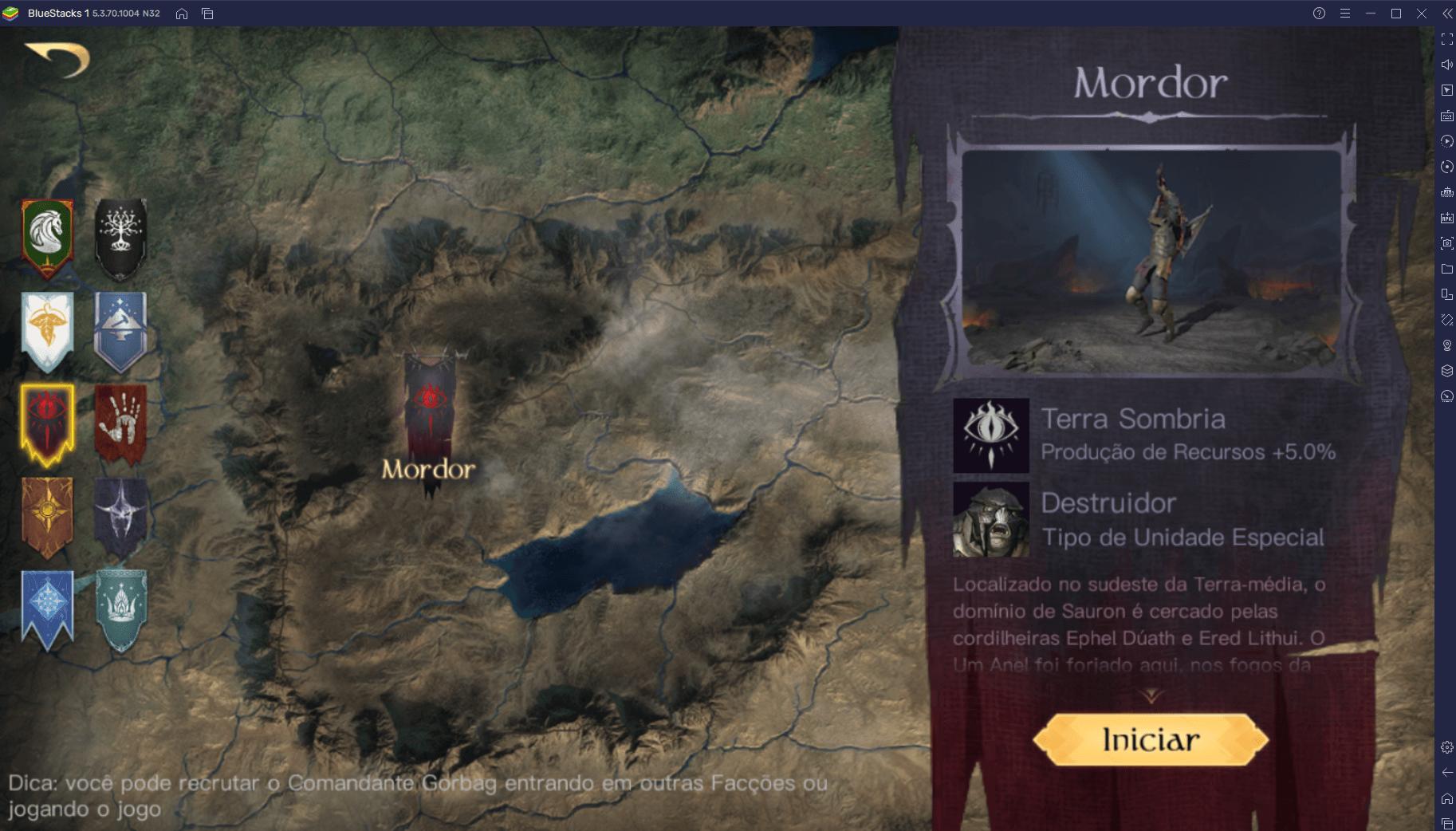 Como jogar O Senhor dos Anéis: Guerra no PC com BlueStacks
