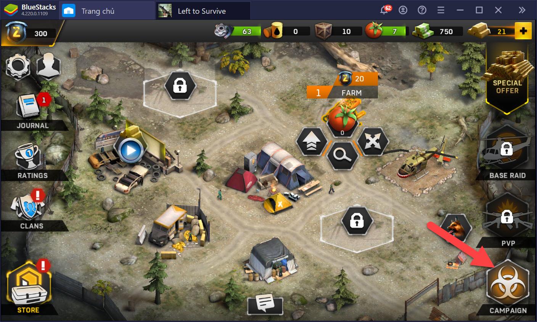 Cách chơi và phát triển căn cứ trong Left to Survive: Dead Zombie