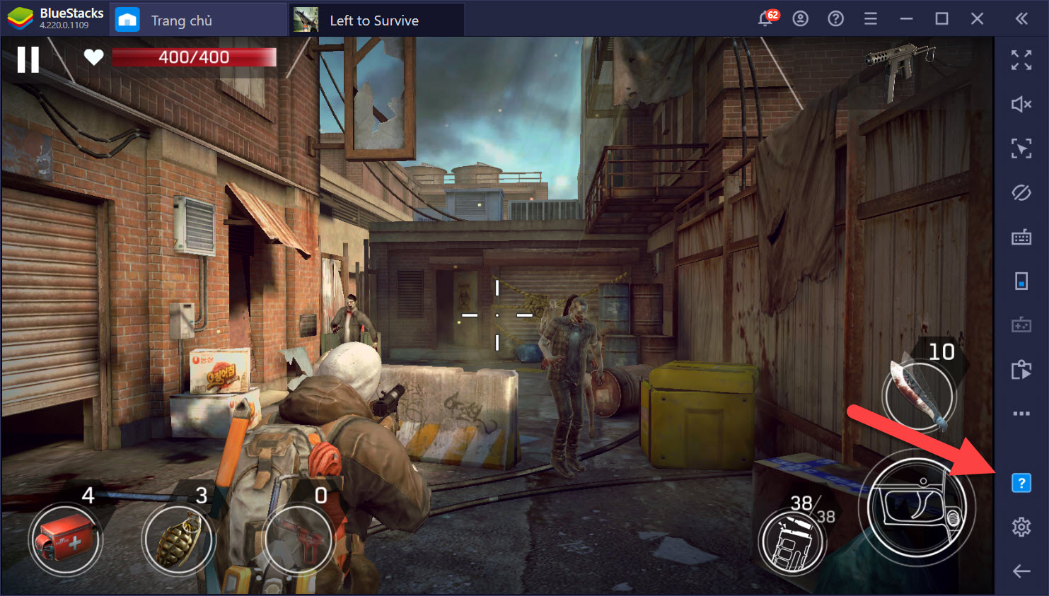 Thiết lập Game Controls cho Left to Survive: Dead Zombie