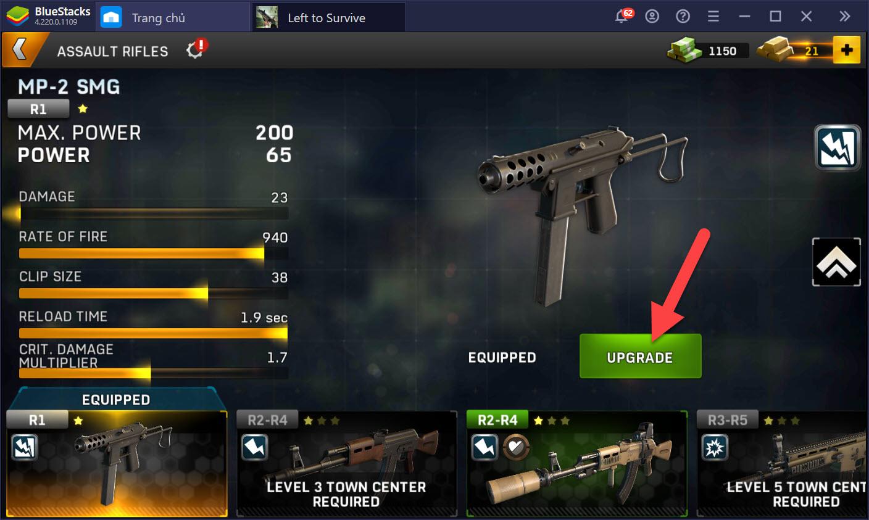 Left to Survive: Dead Zombie – Hướng dẫn nâng cấp, sử dụng vũ khí