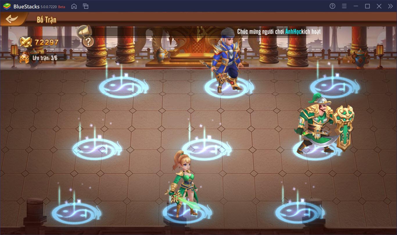Hướng dẫn cơ bản lối chơi Long Tướng 3Q cho người mới