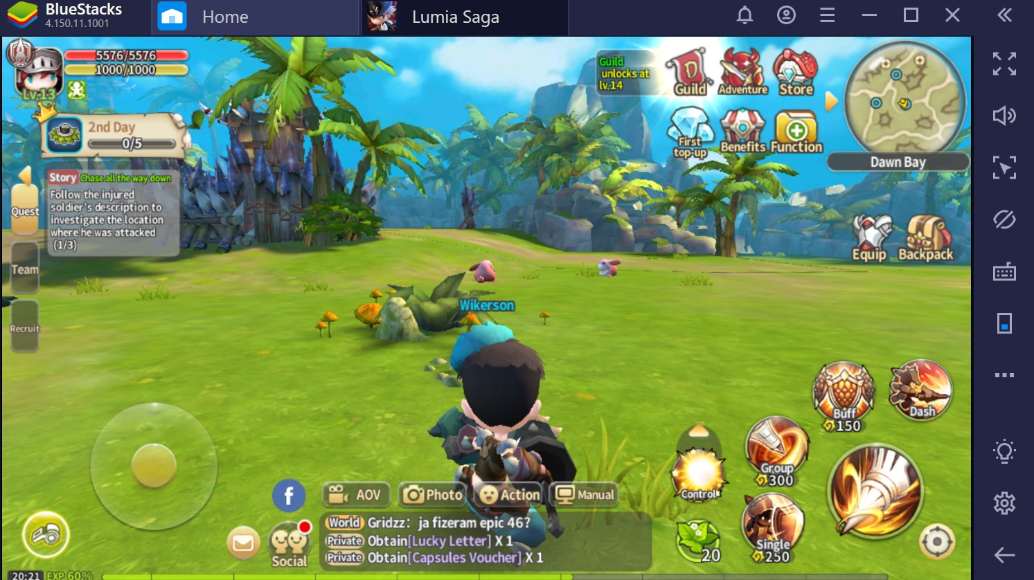 Como jogar Lumia Saga no PC com o BlueStacks