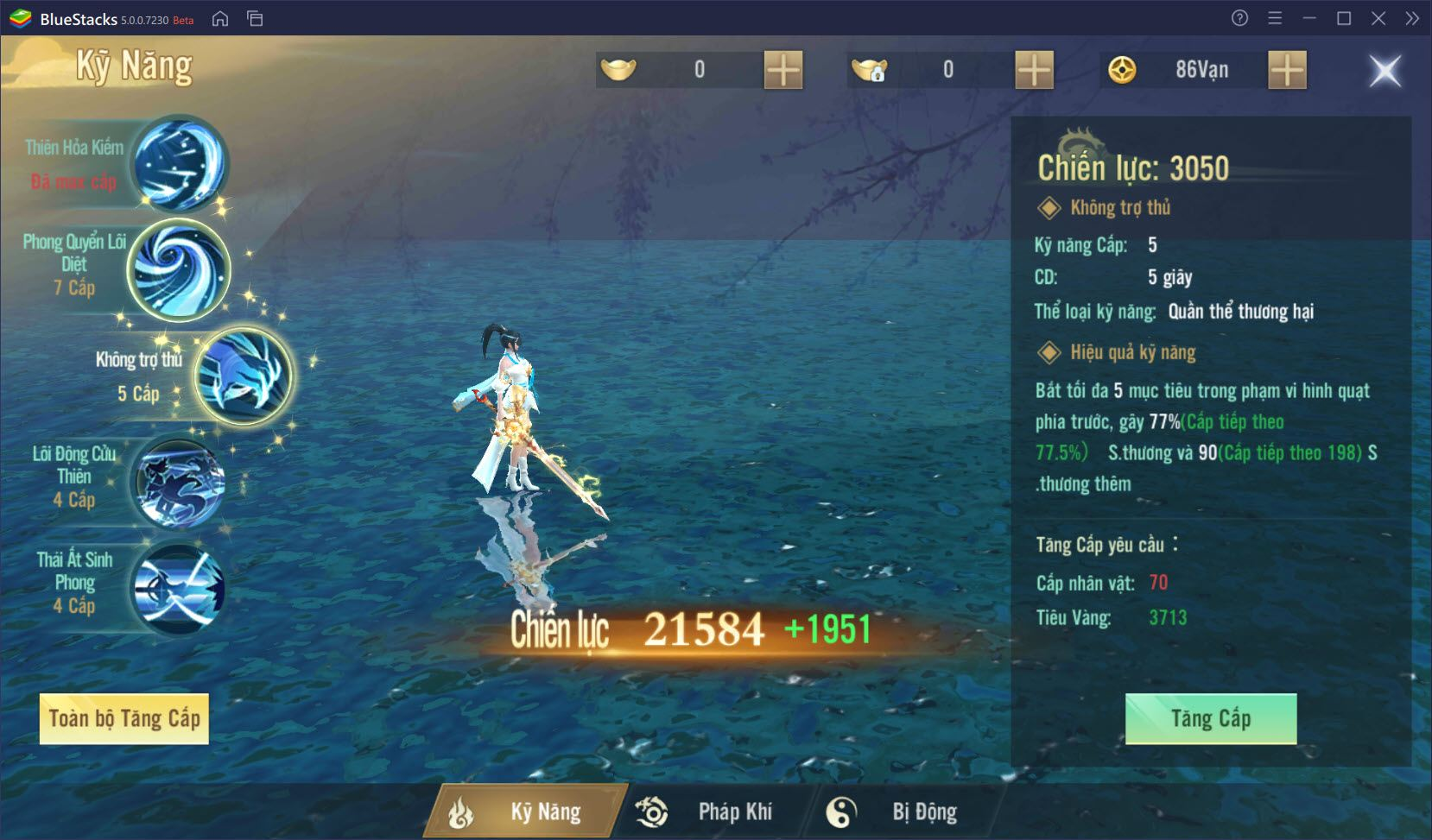 Tổng quan về nâng cấp nhân vật trong Long Vũ 3D