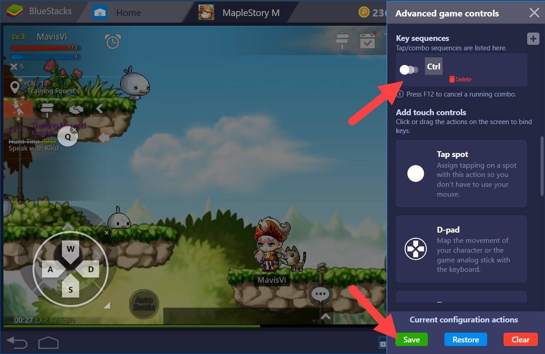 如何透過BlueStacks 按鍵腳本 的功能加快你的 楓之谷M 遊玩速度?