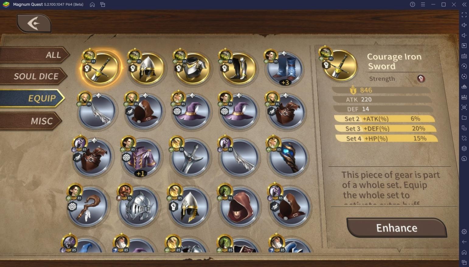 دليل BlueStacks للمبتدئين للعب Magnum Quest