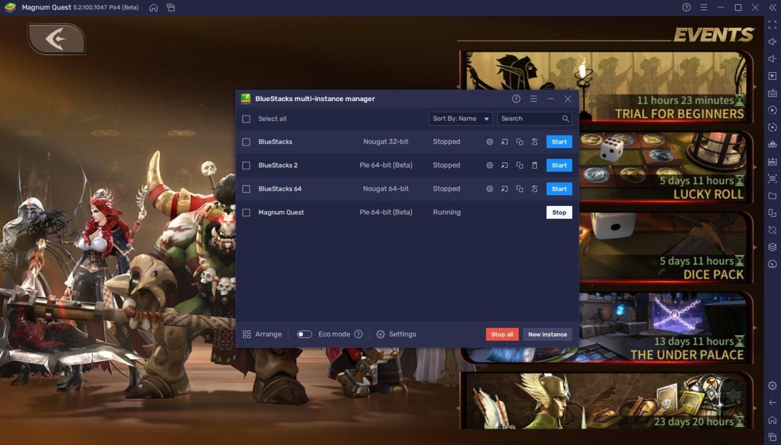 كيف تلعب لعبة  Magnum Quest على جهاز الكمبيوتر باستخدام BlueStacks