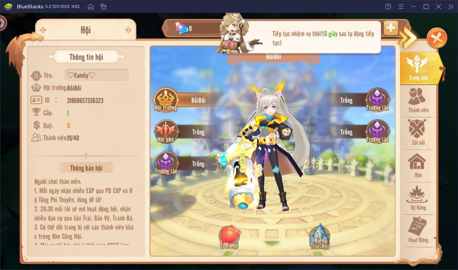 Khám phá vùng đất thần thoại Mật mã Gaia trên PC cùng BlueStacks