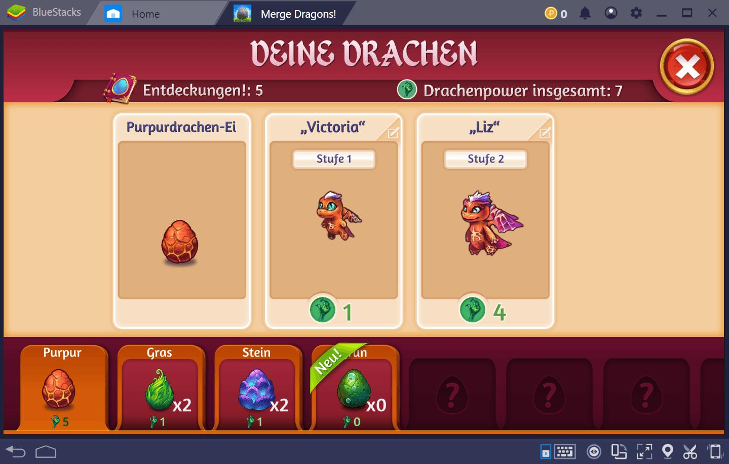 Merge Dragons ist das Kombinationsspiel