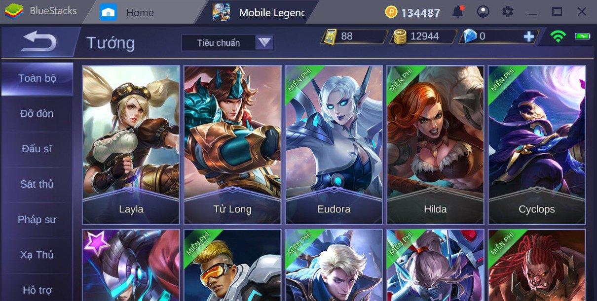 Giới thiệu các Class trong Mobile Legends Bang Bang | Bluestacks 4