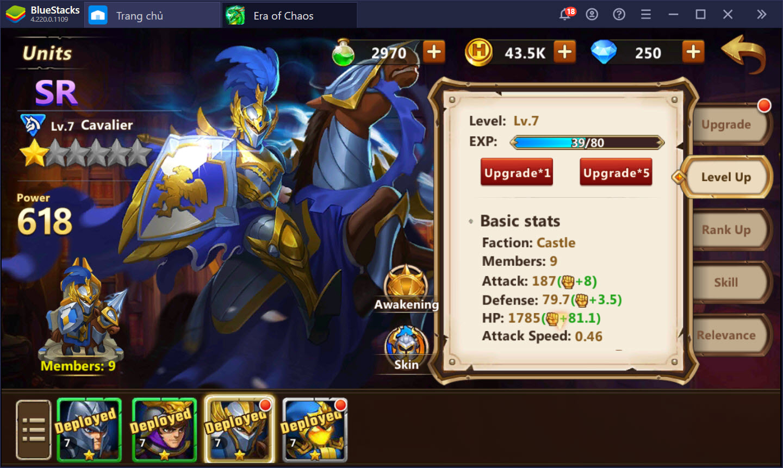 Might & Magic: Era of Chaos – Hướng dẫn nâng cấp, tiến hóa và triệu hồi binh