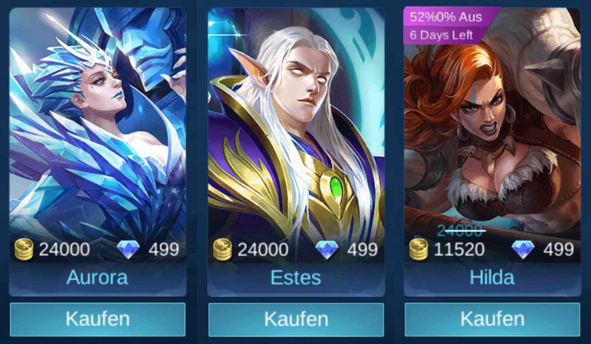 Mobile Legends: Bang Bang Guide zum Helden-Kauf
