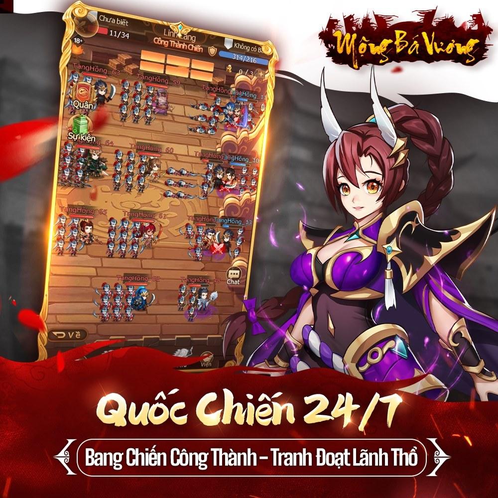 Mộng Bá Vương: Game mobile thẻ tướng mới sắp phát hành