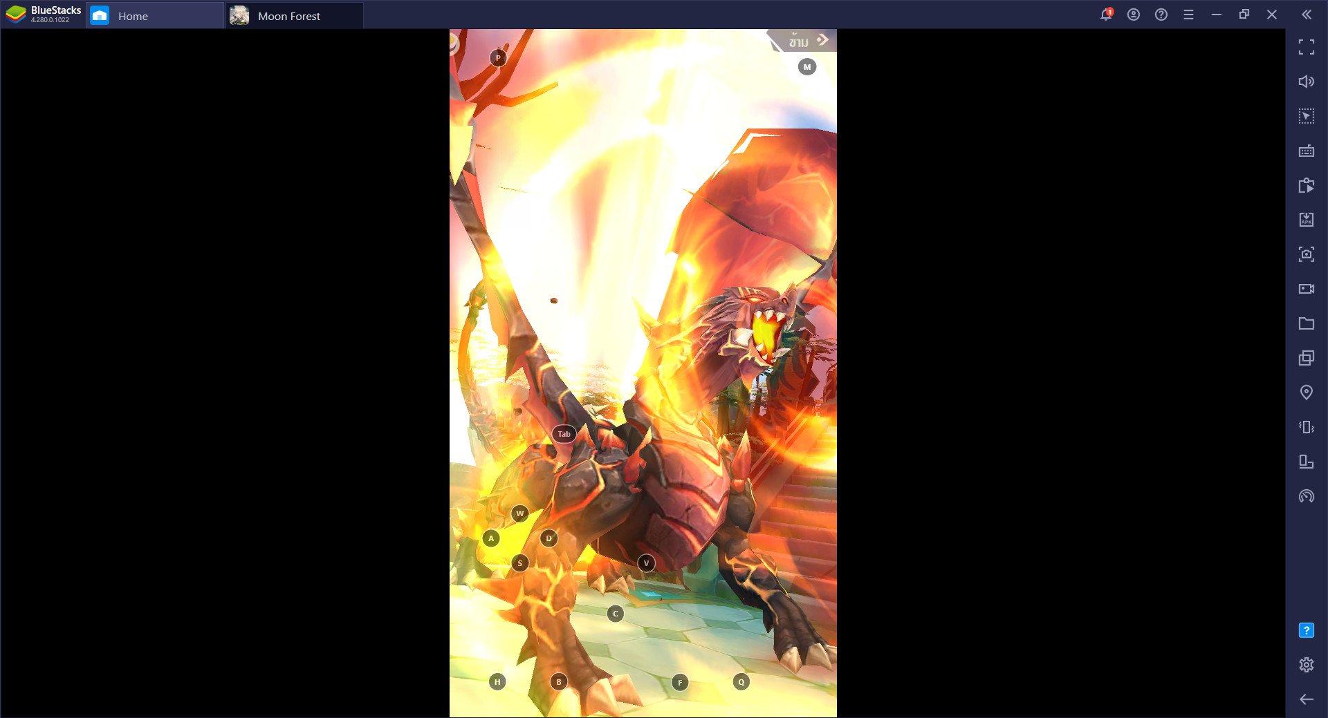 การติดตั้งและเล่น Moon Forest:RPGแนวตั้ง ผ่าน BlueStacks