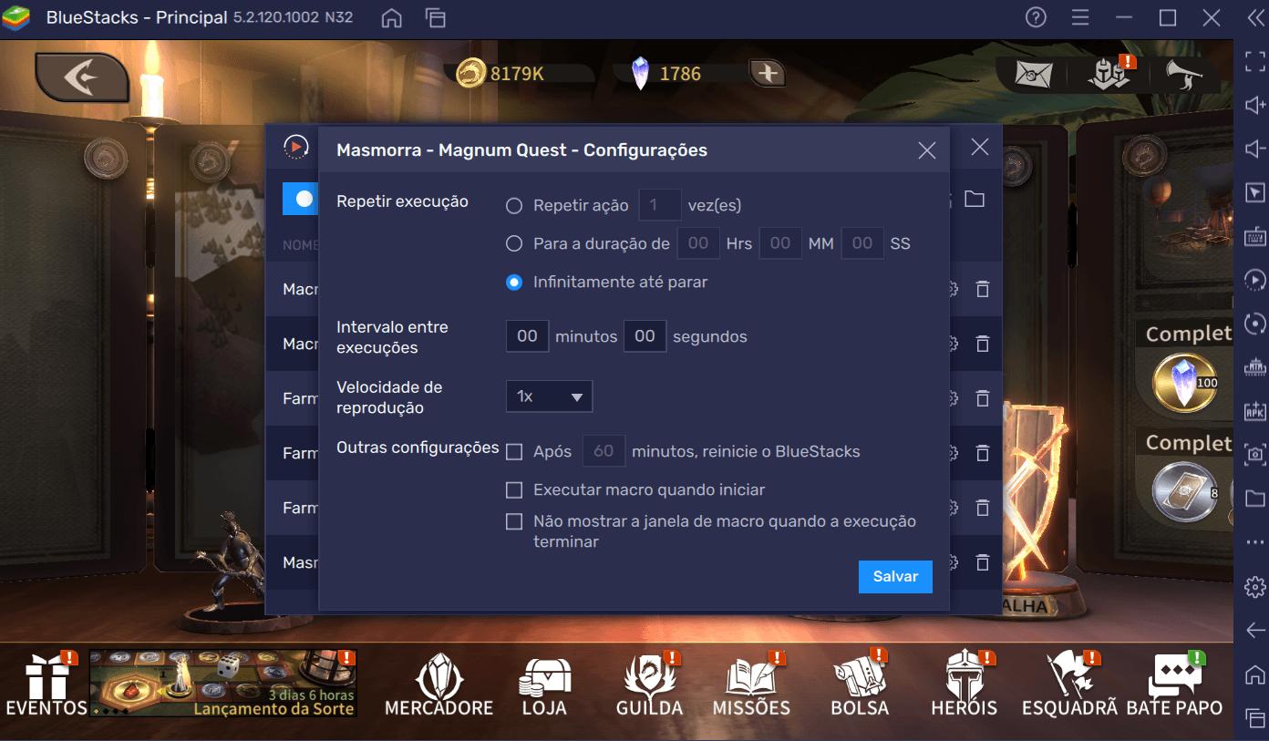 Guia de Iniciantes BlueStacks para começar bem em Magnum Quest