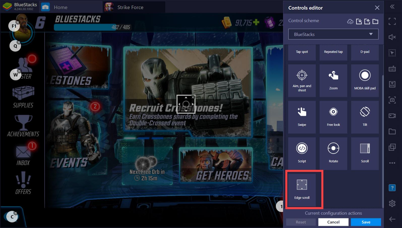 MARVEL Strike Force: Hướng dẫn gán phím Keymapping với Game