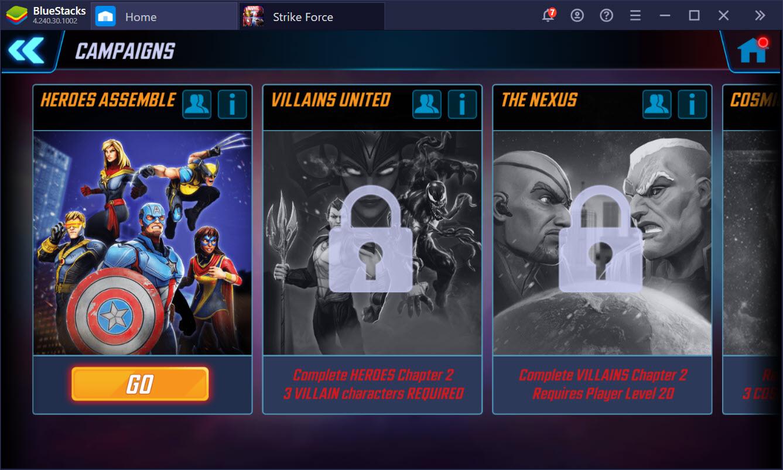 Hóa thân siêu anh hùng trong MARVEL Strike Force cùng BlueStacks