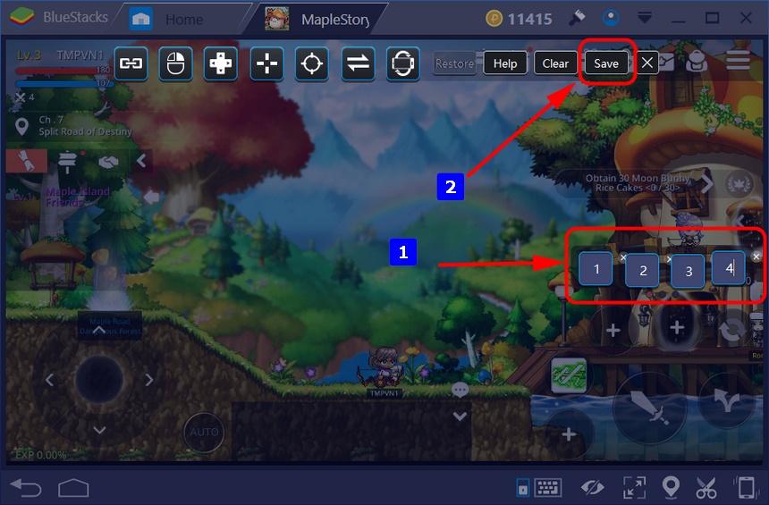 如何在BlueStacks上設定快速鍵來並遊玩《楓之谷M》