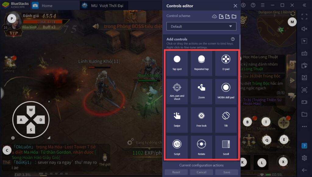 Hướng dẫn gán phím với Keymapping, chơi MU: Vượt Thời Đại như game PC