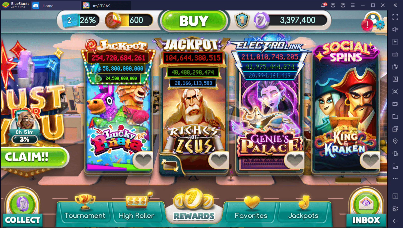 How to Play the myVEGAS Slots on PC with BlueStacks