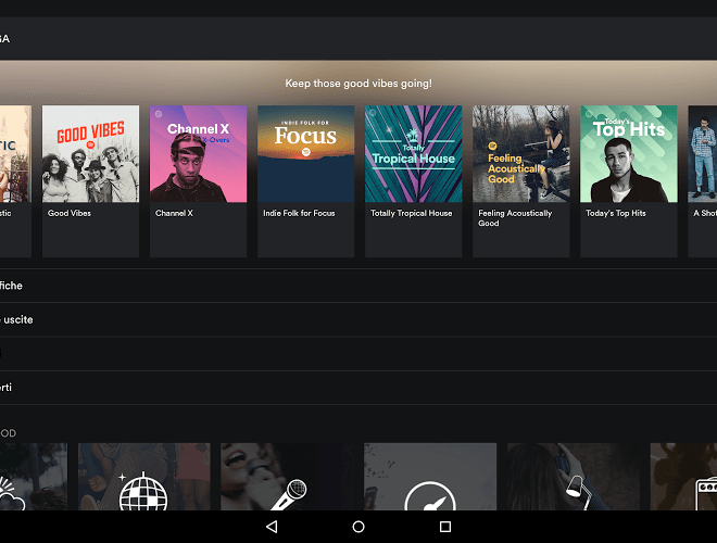 Gioca Spotify android app on PC 7