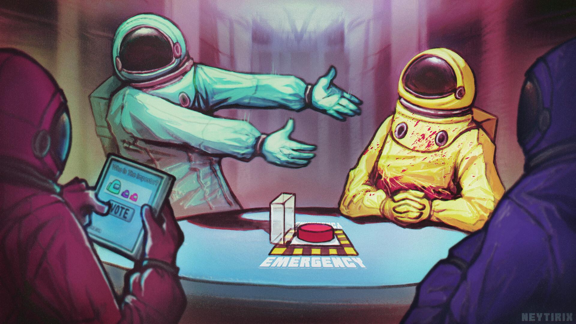 Лучшие фан-арты по игре Among Us