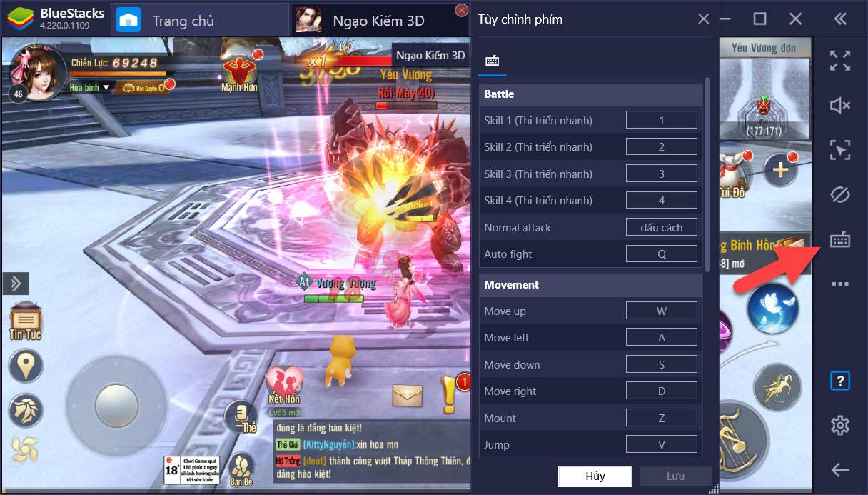 Ngạo Kiếm 3D: PvP bách chiến bách thắng với Game Controls