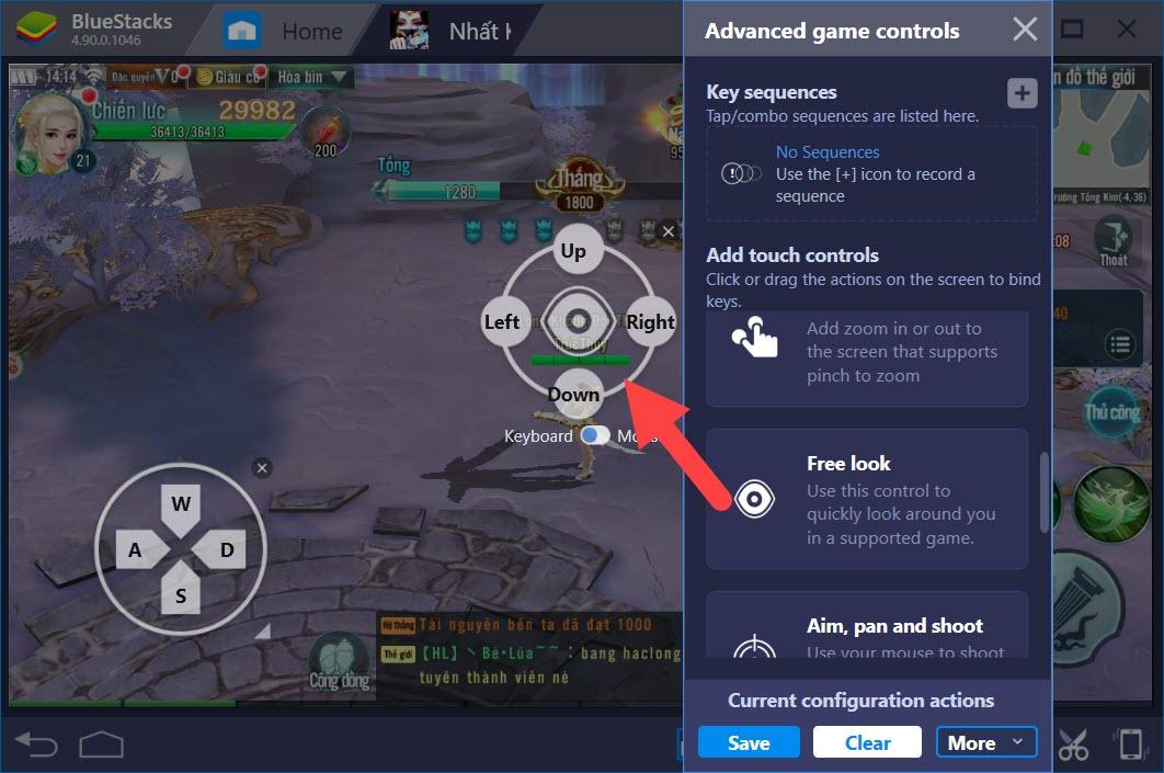 Thiết lập Game Controls khi chơi Nhất Kiếm Giang Hồ với BlueStacks