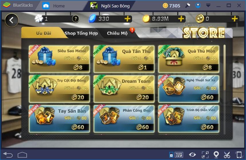 Cách đổi tên nhân vật trong game Ngôi Sao Bóng Đá Mobasaka
