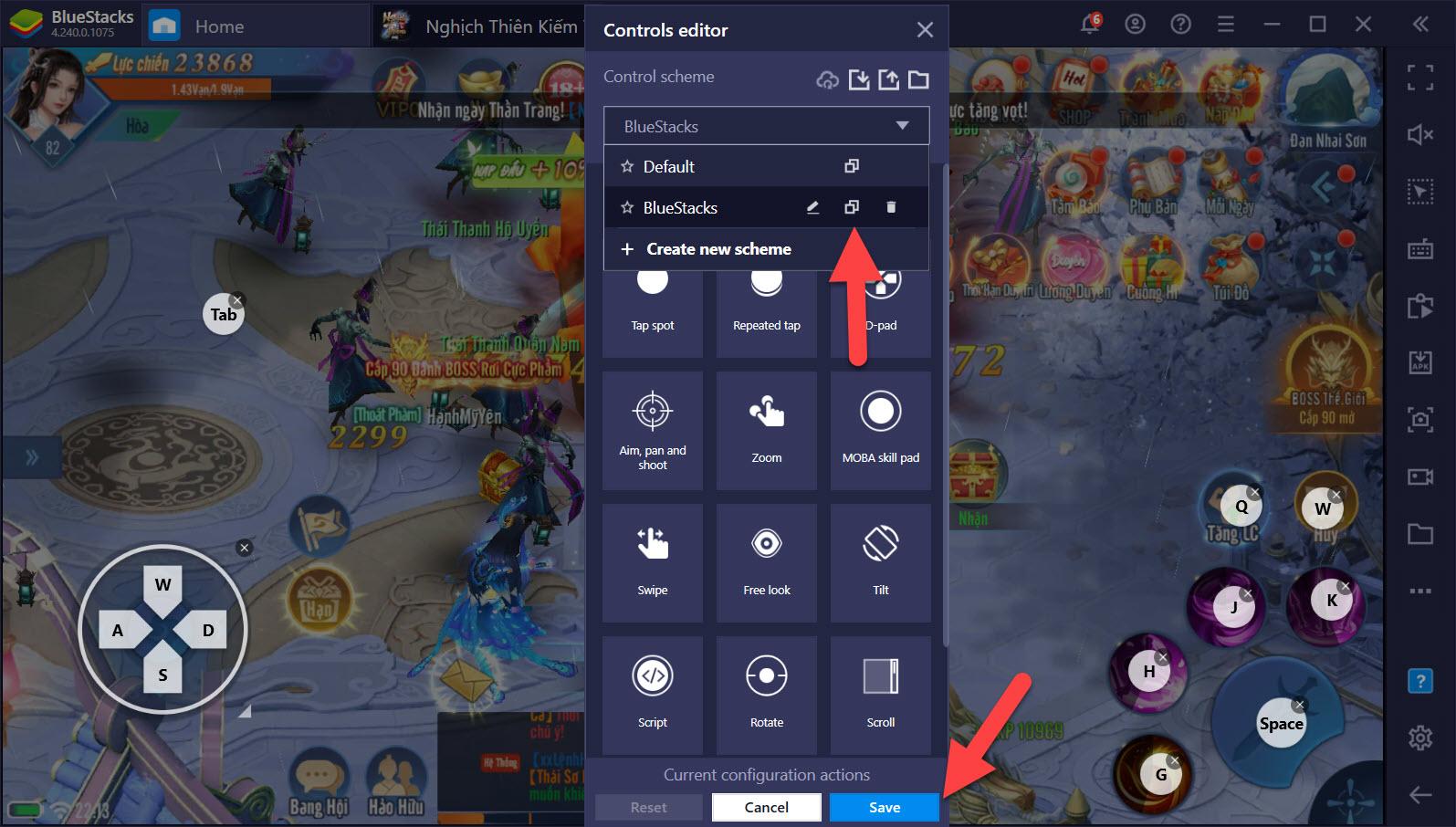Tinh chỉnh Game Controls tối ưu cách chơi Nghịch Thiên Kiếm Thế