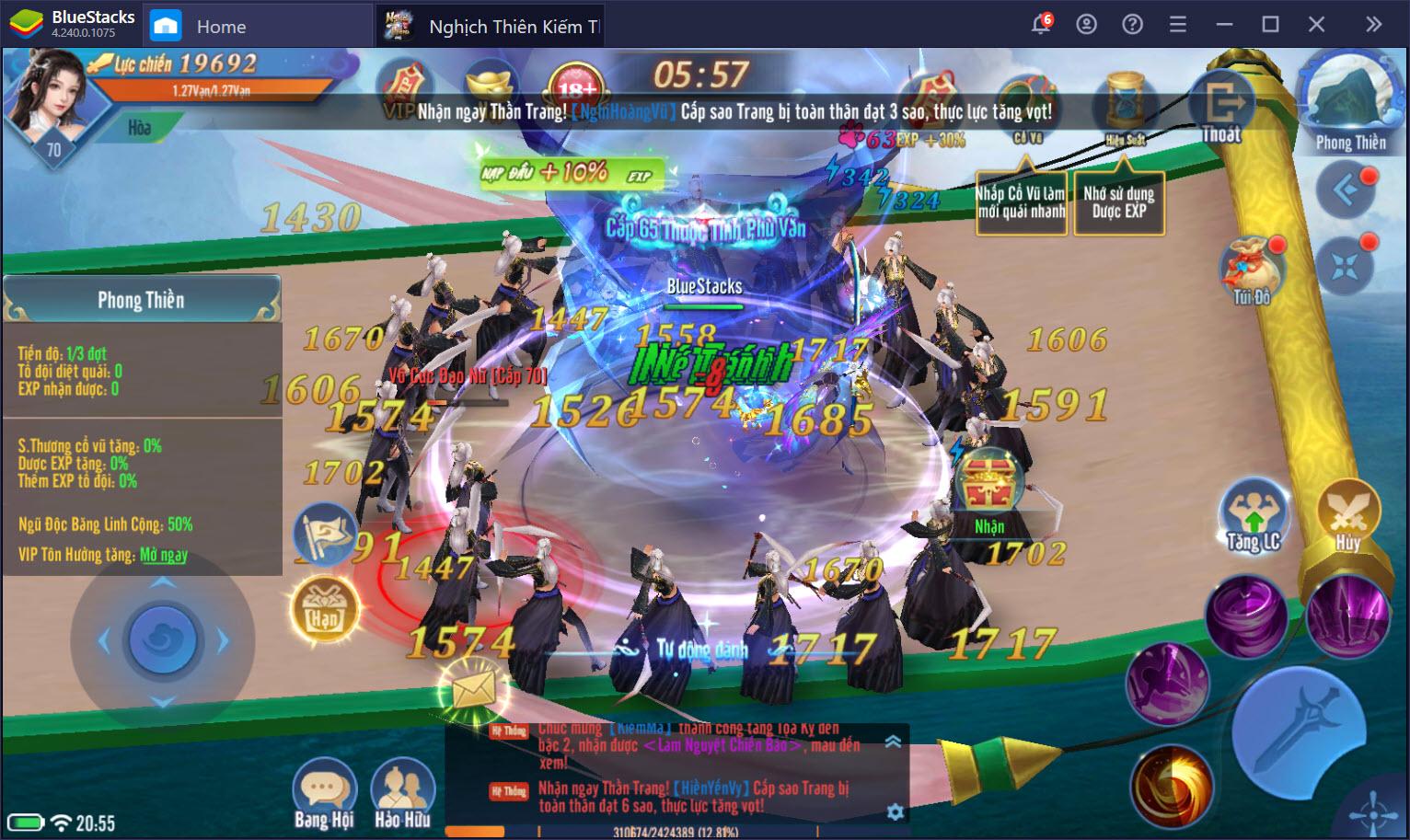 Cùng chơi Nghịch Thiên Kiếm Thế trên PC cùng BlueStacks