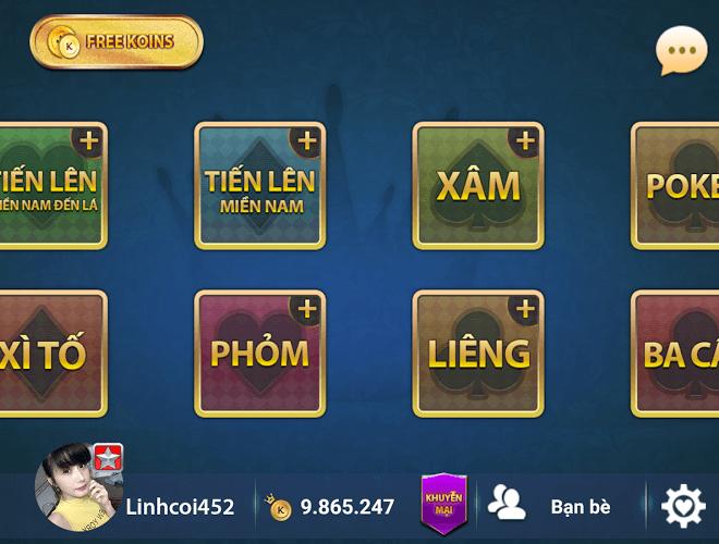 Chơi Game bai Online – Vua danh bai on PC 1