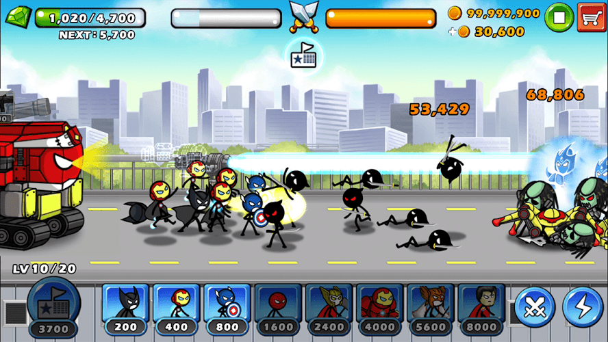 Chơi HERO WARS: Super Stickman Defense on PC 11