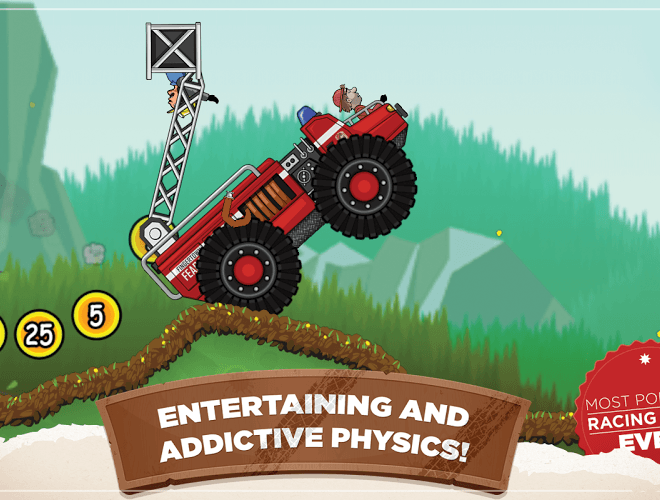 เล่น Hill Climb Racing on PC 5