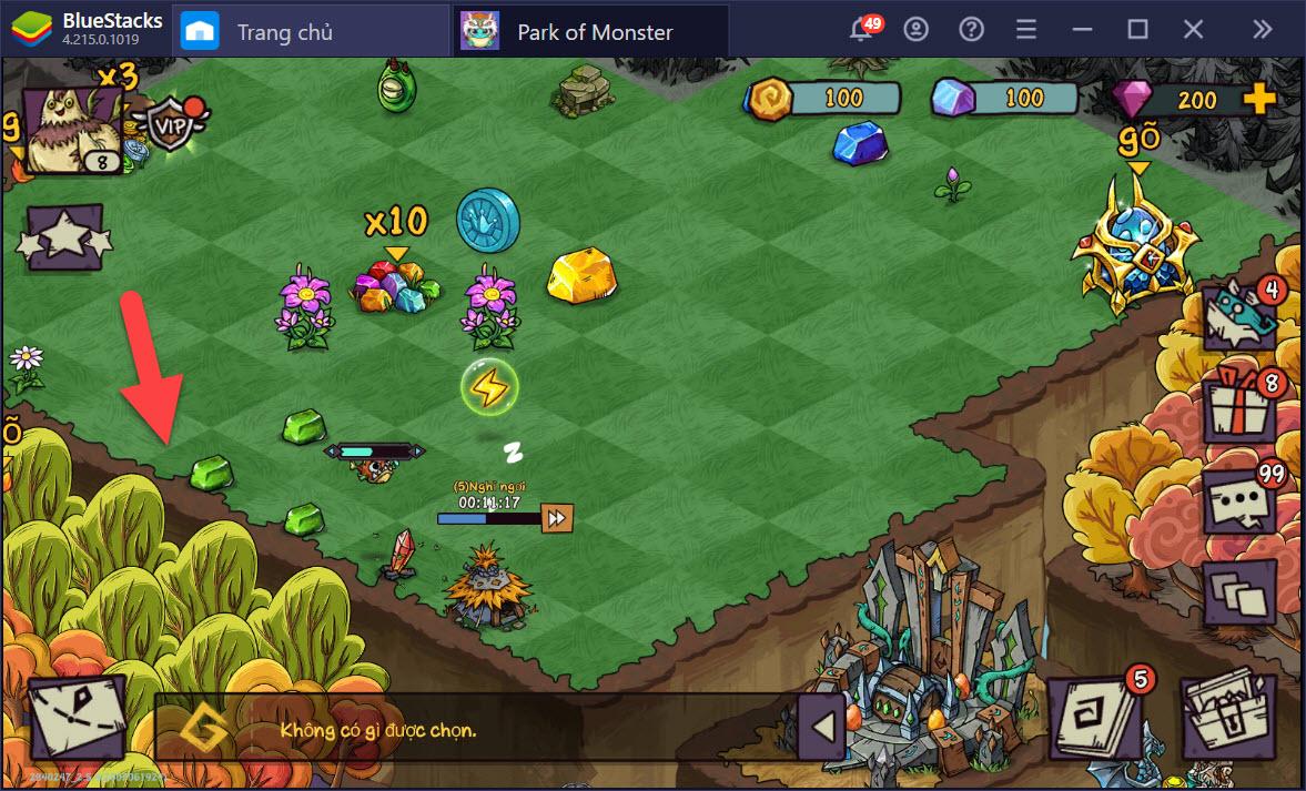 Cách kiếm gem và gộp quái vật trong Park of Monster