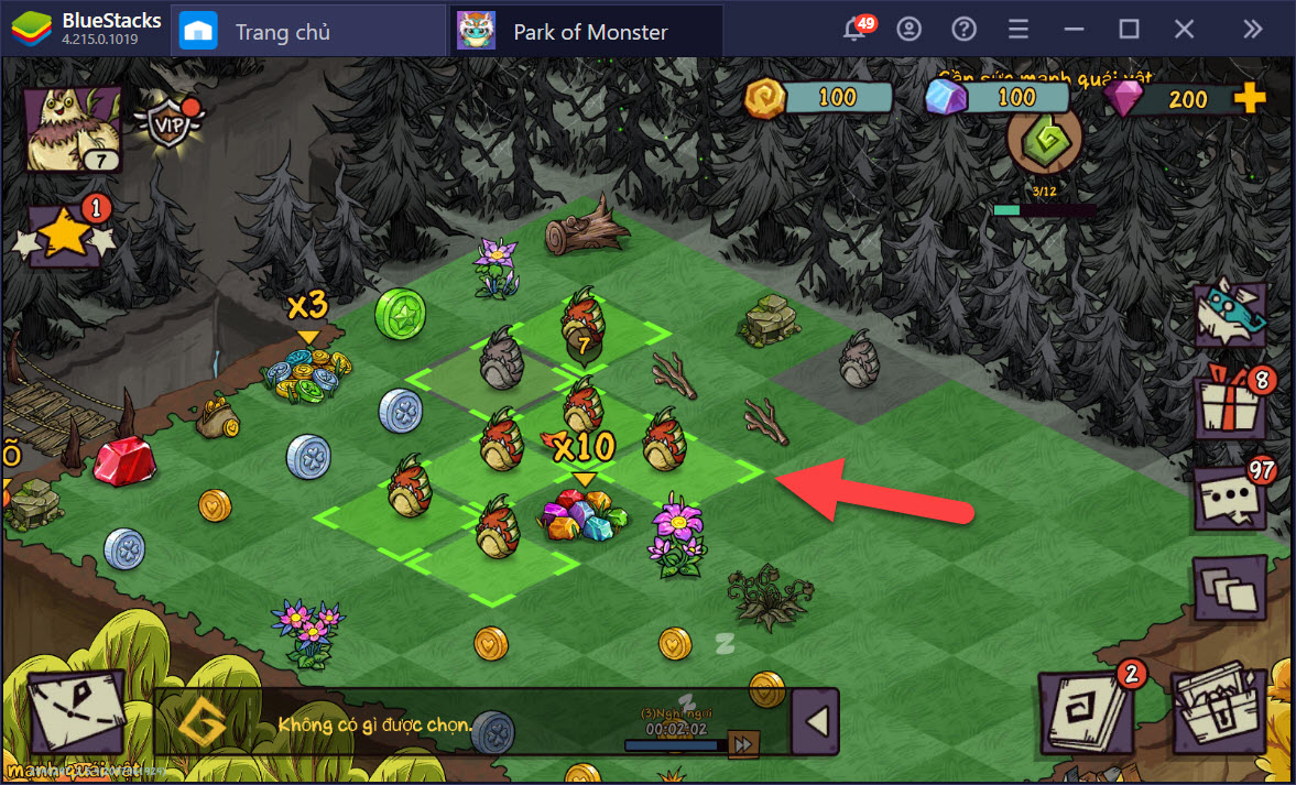 Tìm hiểu hệ thống tạo cây và các loại tiền tệ trong Park of Monster