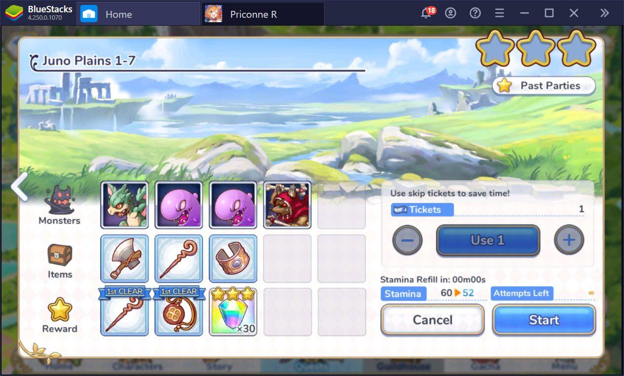 Hướng dẫn chơi Princess Connect! Re: Dive dành cho tân thủ