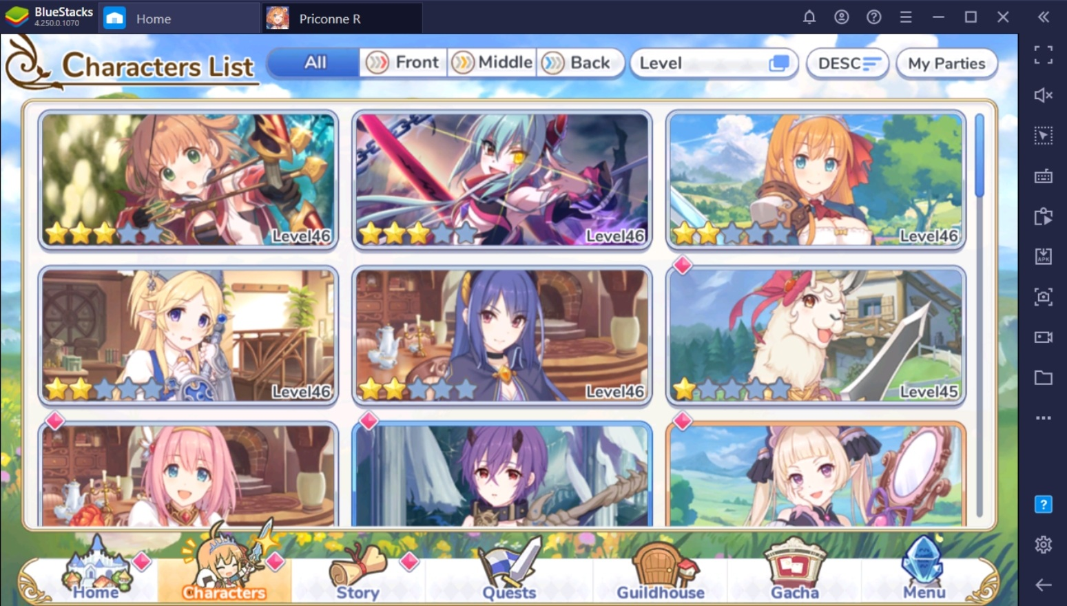 Fastest Way To Catch Up in Princess Connect! Re:Dive